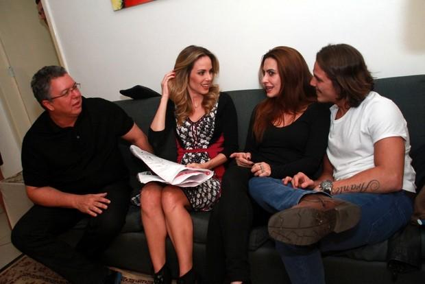 Boninho, Ana Furtado , Cleo Pires e Romulo Arantes (Foto: Graça Paes /  Photo Rio News)