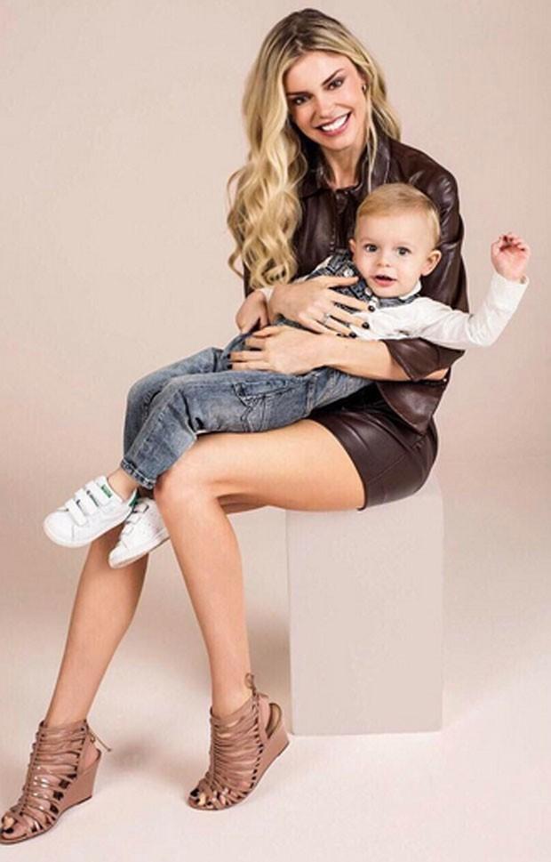 Kelly Gisch e o filho, Thomas (Foto: Reprodução)