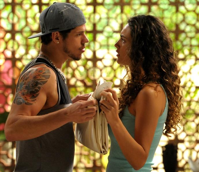 José Loreto e Débora Nascimento viviam Darkson e Tessália (Foto: João Cotta/TV Globo)