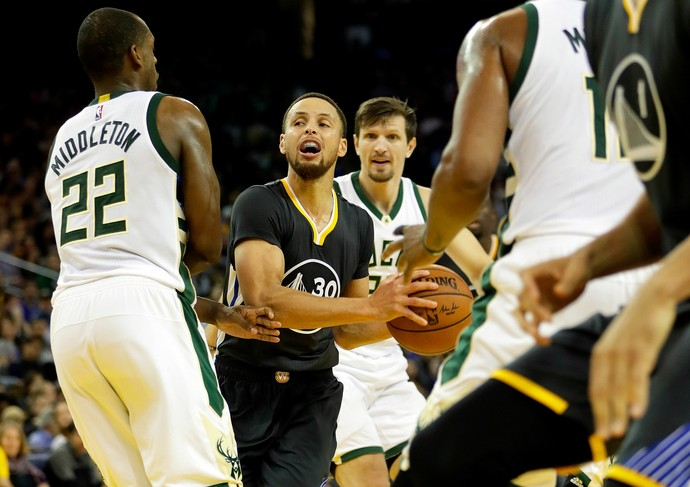 stephen curry Golden State Warriors, Bucks (Foto: Getty Images)
