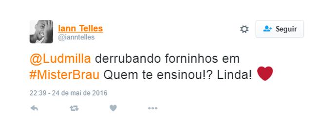 Ludmilla derrubando forninhos (Foto: Reprodução)