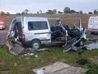 PRF identifica os corpos de nove dos dez mortos em acidente na BR-116