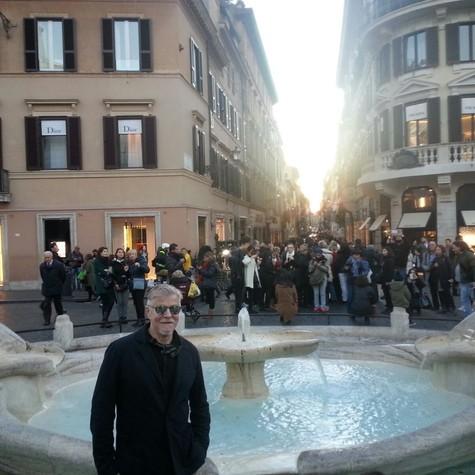 Miguel Falabella passa as férias em ROma (Foto: Arquivo pessoal)