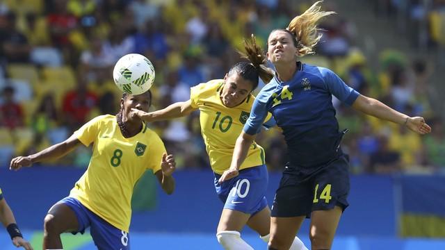 Brasil x Suécia - Jogos Olímpicos - Futebol Feminino 2016-2016 ... 4ddf5e81928dc