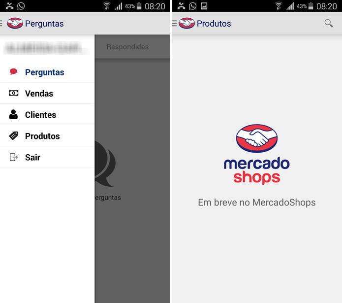 Aplicativo oferece recursos para facilitar a vida de quem tem lojas virtuais no MercadoShops (Foto: Reprodução/Filipe Garrett)
