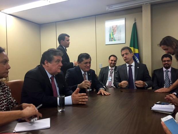 O ministro da Saúde, Arthur Chioro, durante reunião com líderes da Câmara dos Deputados (Foto: Nathalia Passarinho)