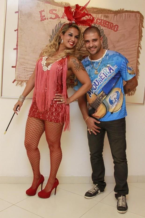 Diogo Nogueira e a mulher, Milena Nogueira (Foto: Philippe Lima/Ag News)