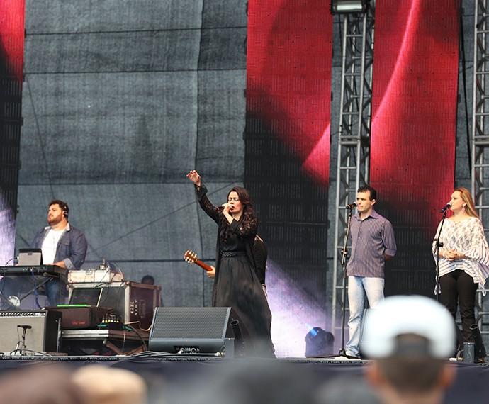 Damares cantou seus maiores sucessos (Foto: Carol Caminha/Gshow)