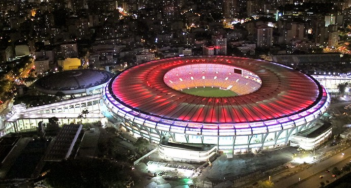 Maracanã teste de iluminação estádio (Foto: Genílson Araújo / Agência O Globo)