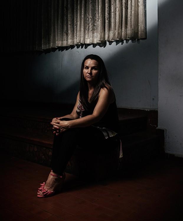A IMPORTÂNCIA DO APOIO Ivete Maria da Silva no centro em que se tratou. Só parou com a ajuda do companheiro (Foto: Filipe Redondo/ÉPOCA)