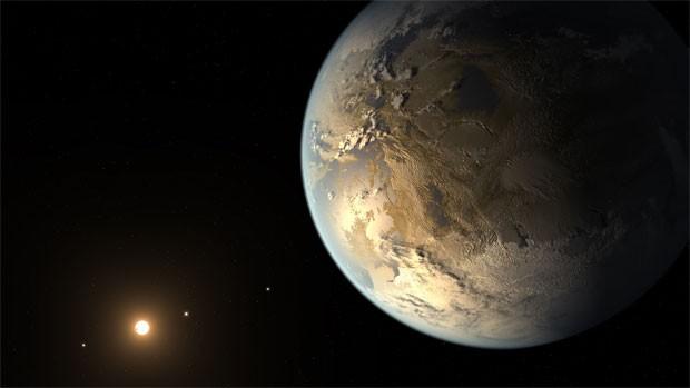 Ilustração mostra como seria o planeta Kepler-186f (Foto: NASA Ames/SETI Institute/JPL-Caltech)