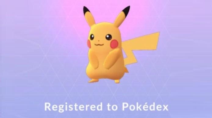 Pokémon Go: agora é só arremessar a bola no Pikachu normalmente para capturá-lo (Foto: Reprodução/Thomas Schulze)
