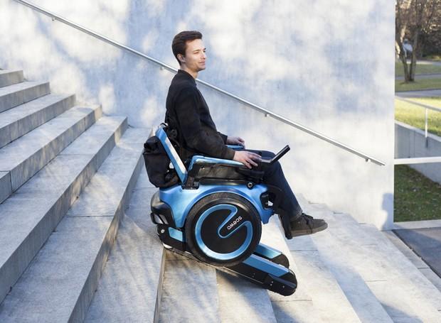 scewo-cadeira-de-rodas-consegue-subir-e-descer-escadas (Foto: Divulgação)