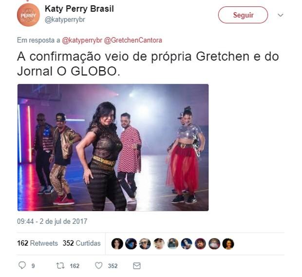Participação de Gretchen em clipe de Katy Perry ganha a web (Foto: Reprodução/Twitter)
