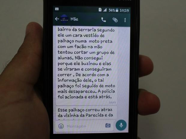 Usuários relatam nas redes sociais sobre aparições de palhaços (Foto: Júnior Freitas/ G1)
