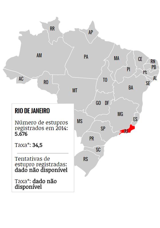 Mapa do estupro no Brasil (Foto: ÉPOCA)