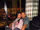 Naldo posta foto de viagem com Mulher Moranguinho
