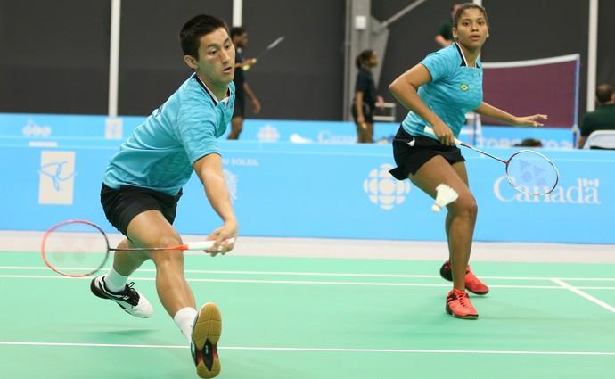 Alex Yuwan Tjong e Lohaynny Vicente  Badminton  (Foto: Saulo Cruz/Exemplus/COB)