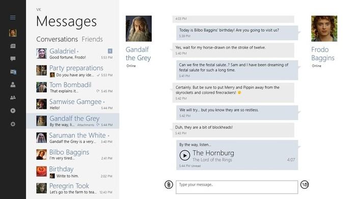 VK também está disponível na loja do Windows 10 para quem quer deixar os navegadores (Foto: Divulgação/VK)