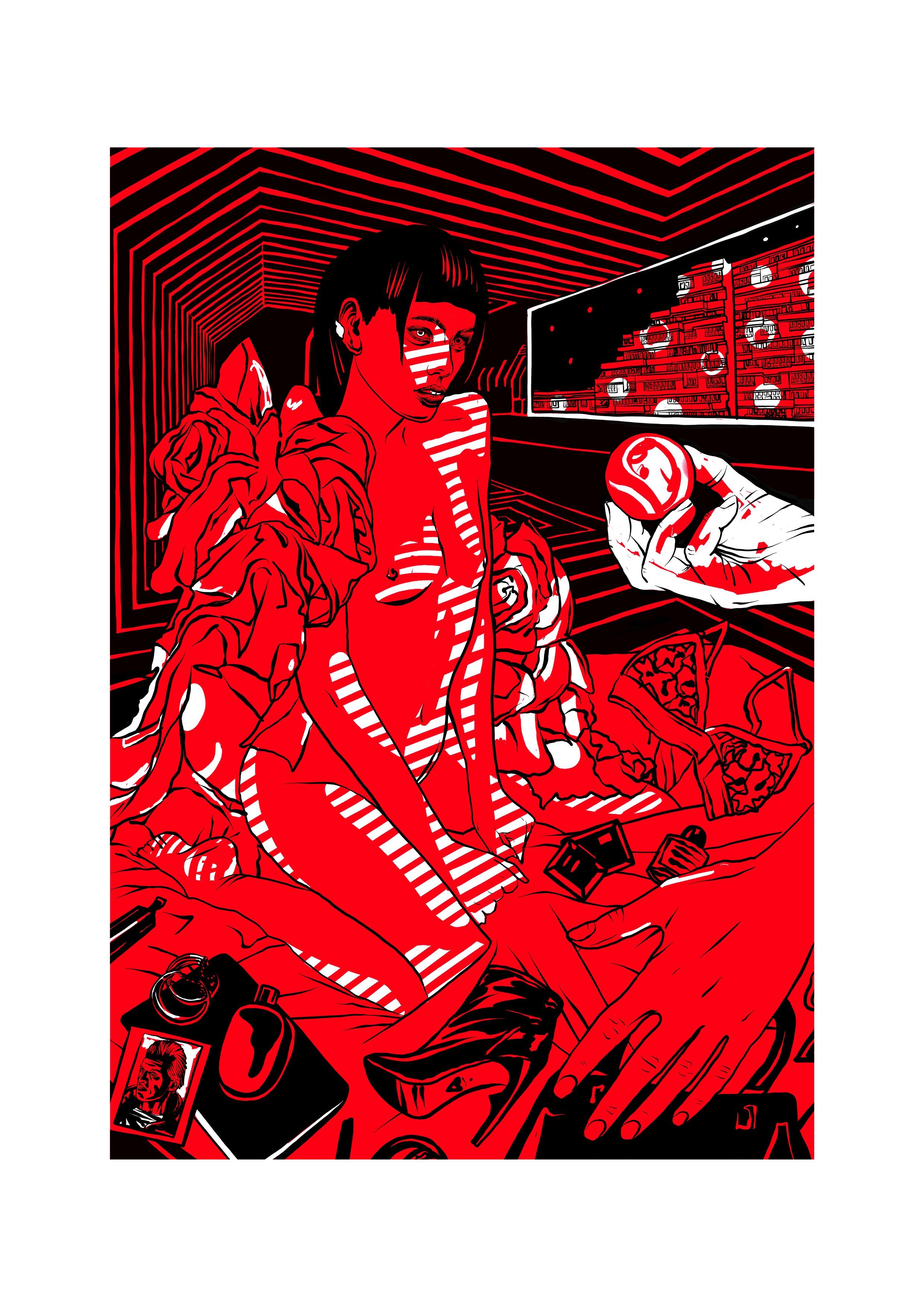 Ilustração de Elena Gumeniuk para a edição especial de Androides Sonham com Ovelhas Elétricas (Ed. Aleph) (Foto: Elena Gumeniuk)