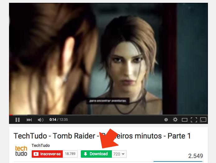 ...e logo abaixo do vídeo no YouTube (Foto: Reprodução/Paulo Alves)