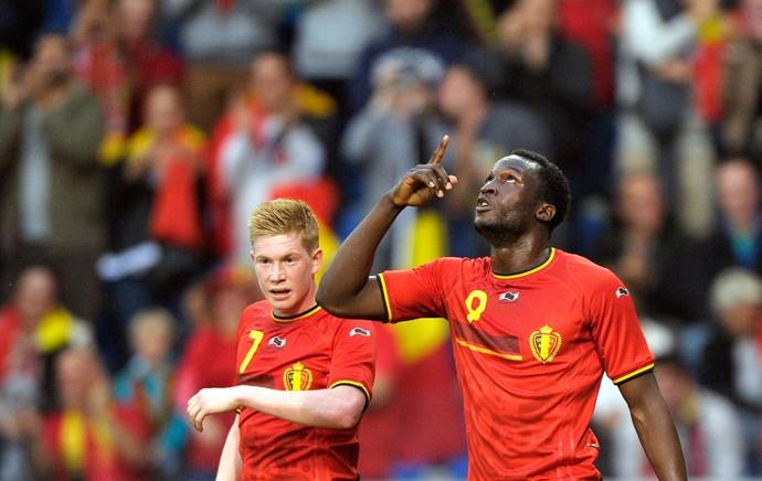 Lukaku comemora gol da Bélgica contra Luxemburgo (Foto: Agência Reuters)