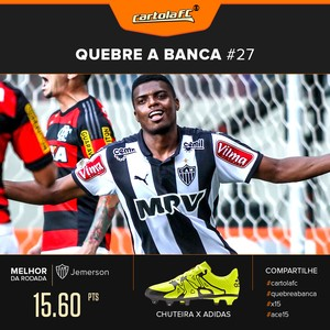 Card Cartola Adidas Quebra a banca rodada 27 - Jemerson (Foto: Editoria de Arte)