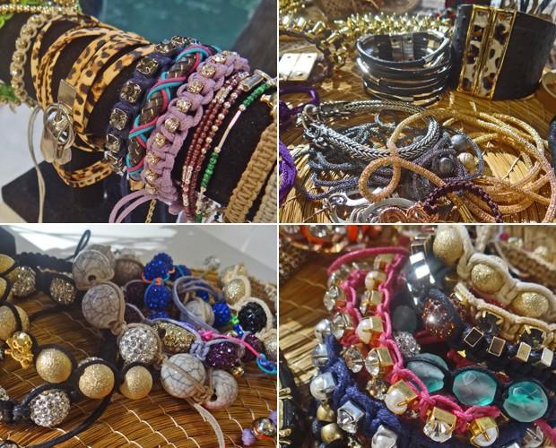 Coloridas, com brilhos, de bolinhas ou não! Faça ume stilo com as pulseiras da moda (Foto: Mais Você / TV Globo)
