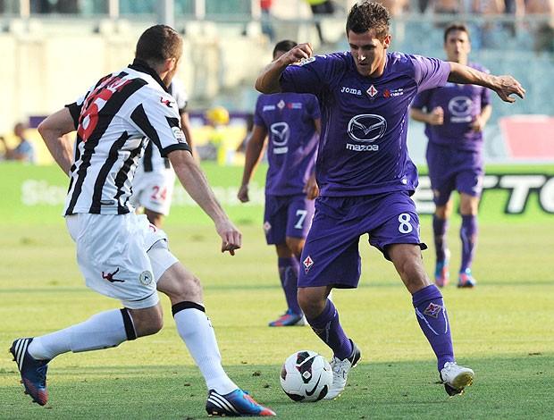 Heurteaux e Stevan Jovetic, Fiorentina x Udinese (Foto: Agência EFE)