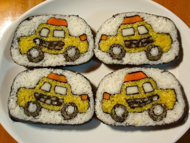 Táxis comestíveis expõem riqueza de detalhes (Foto: Reprodução)