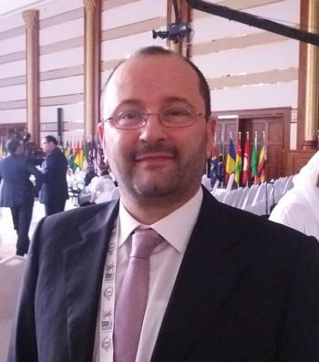 Patrick Baumann, secretário geral da Fiba (Foto: João Gabriel Rodrigues)