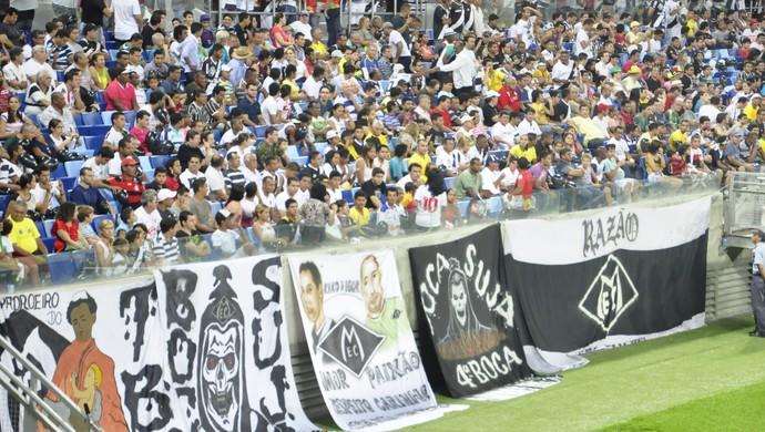A torcida do Mixto fez bonito na estreia da equipe na Copa do Brasil (Foto: Christian Guimarães)