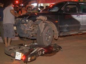 Acidente aconteceu na noite de sábado (6) na Avenida Magalhães Barata (Foto: Reprodução/TV Tapajós)