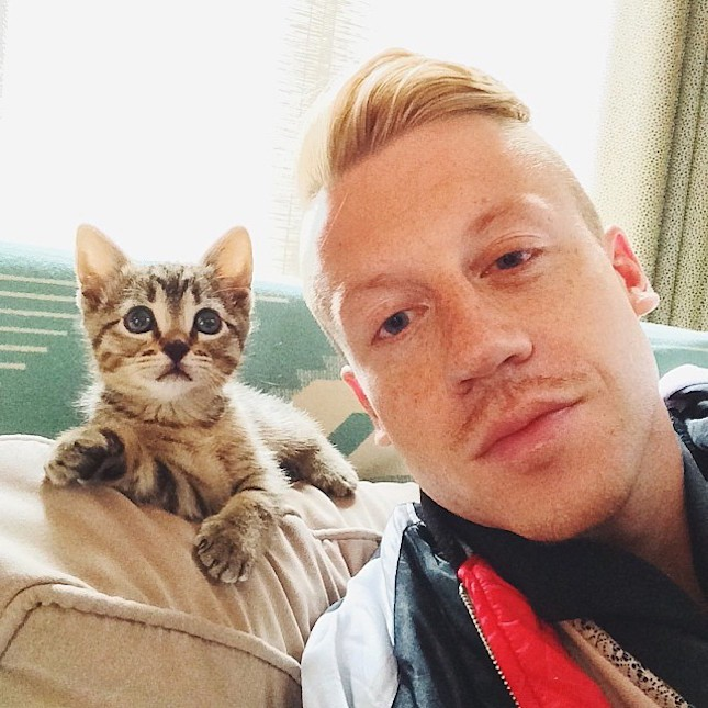 Macklemore e Cairo (Foto: Reproduo / Instagram)