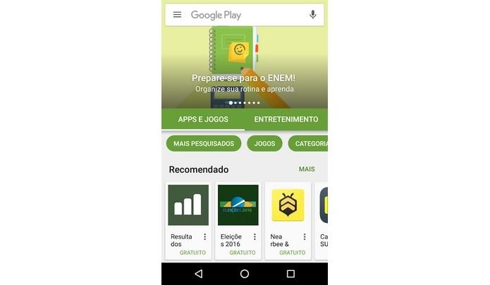 Google Play Store instalada via APK (Foto: Reprodução/ Raquel Freire)