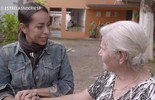 Samantha Schmutz conhece o Lar Irmã Sheilla