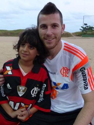 Torcedor mirim Flamengo jogadores (Foto: Carlos Mota)