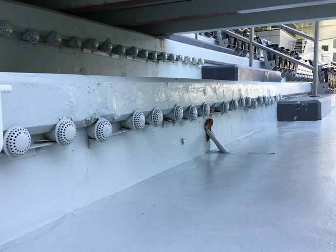 Catar ar-condicionado estádio Al Sadd (Foto: Felipe Rocha)