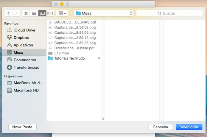 Selecione a pasta de instalação dos aplicativos Android (Foto: Reprodução/Helito Bijora)
