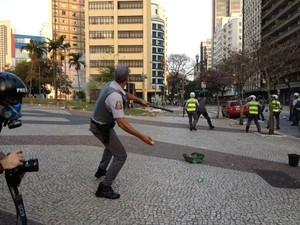 manifestantes são paulo (Foto: Paulo Toledo Piza/G1)