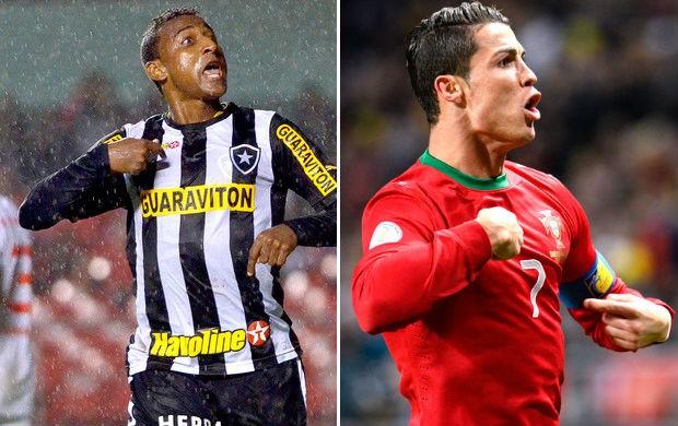 Elias Botafogo Cristiano Ronaldo portugal (Foto: Montagem SporTV)