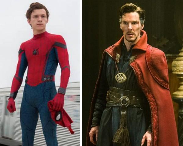 Tom Holland como o Homem-Aranha e Benedict Cumberbatch como o Doutor Estranho (Foto: Reprodução)