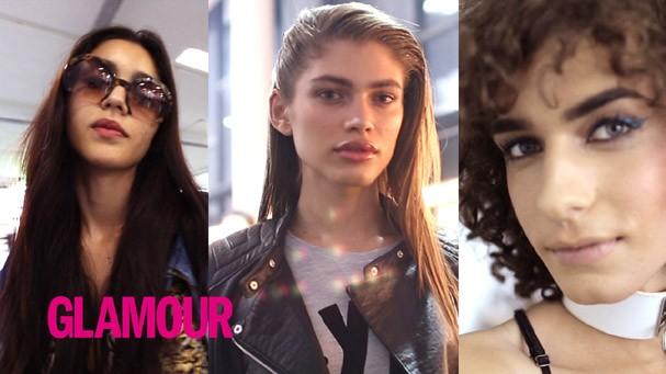 A Glamour acompanhou Valentina e duas new faces durante o SPFW (Foto: Reprodução)