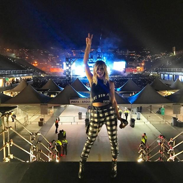 Marina Pumar no show do Justin Bieber (Foto: Instagram/Reprodução)
