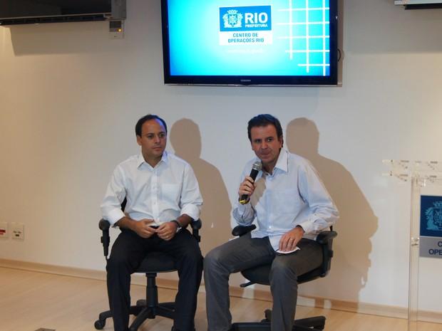 Eduardo Paes e Rodrigo Neves (Foto: Renata Soares/ G1Rio)