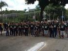 Grupo protesta em Goiânia contra projeto de reforma da Previdência
