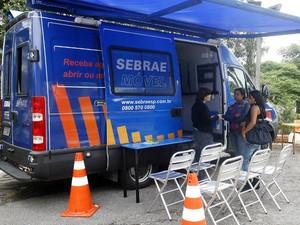 Sebrae Móvel fica em Peruíbe até sexta-feira (Foto: Divulgação / Ricardo Saibun )