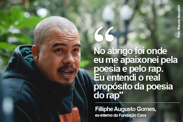Filliphe Augusto Gomes, ex-interno da Fundação Casa (Foto: Marcelo Brandt/G1)