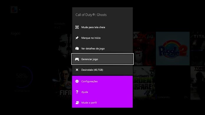 Xbox One: aprenda a gerenciar o conteúdo do seu HD (Foto: Reprodução/Murilo Molina)