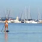 Veja dicas para  praticar stand  up paddle (Reprodução/RBS TV)